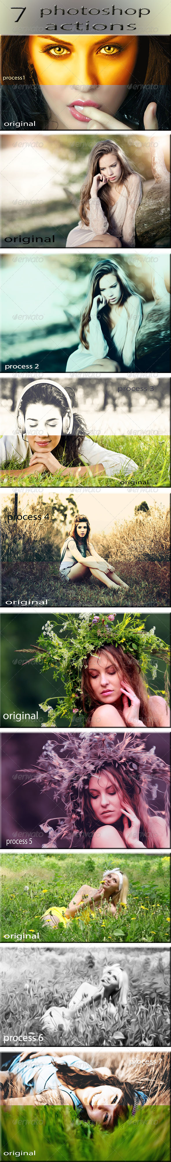GraphicRiver 7 Photoshop Actions 7778243