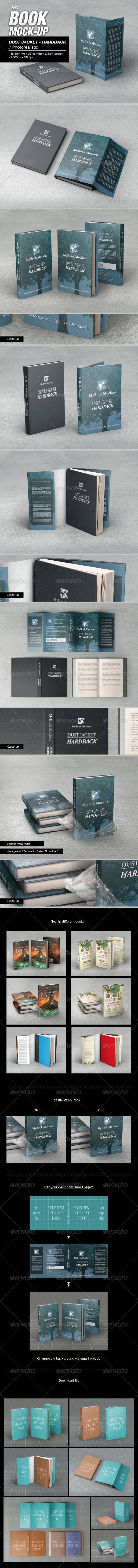 GraphicRiver MyBook Mock-up DJ Hardback 01 7778620