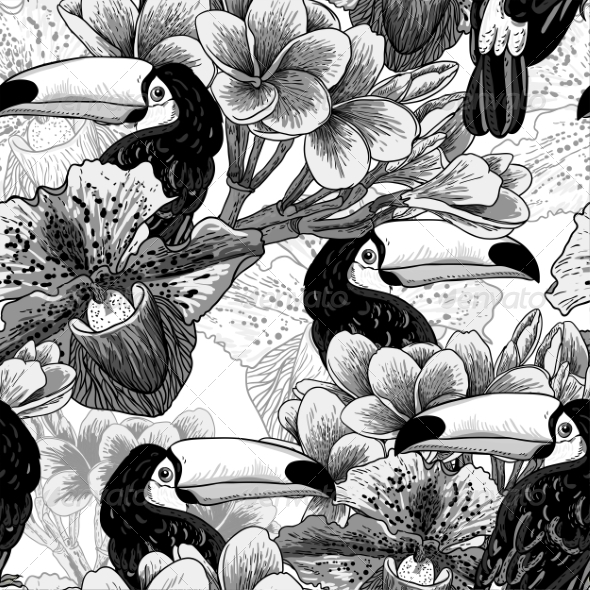 GraphicRiver Tropical Pattern 7778623