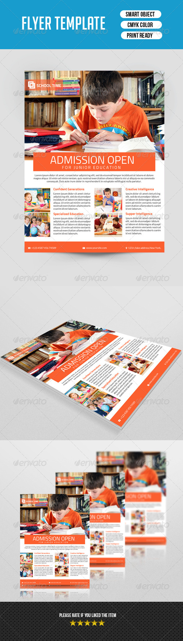 GraphicRiver Kids School Flyer-V08 7778803