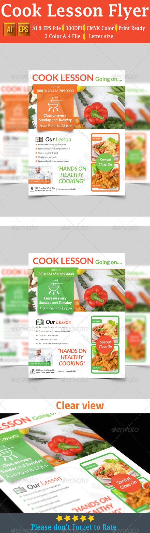 GraphicRiver Cook Lesson Flyer 7778813