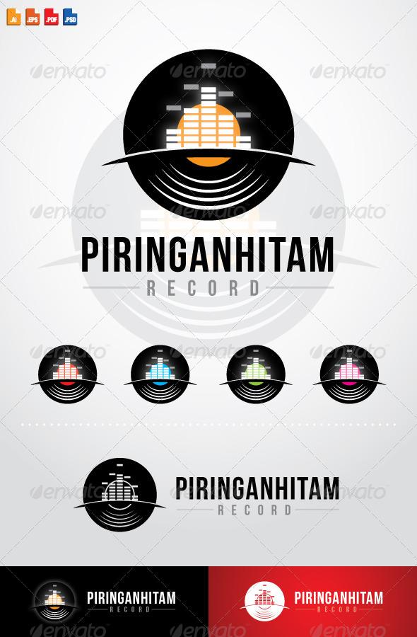 GraphicRiver Piringanhitam Record Logo 7778989