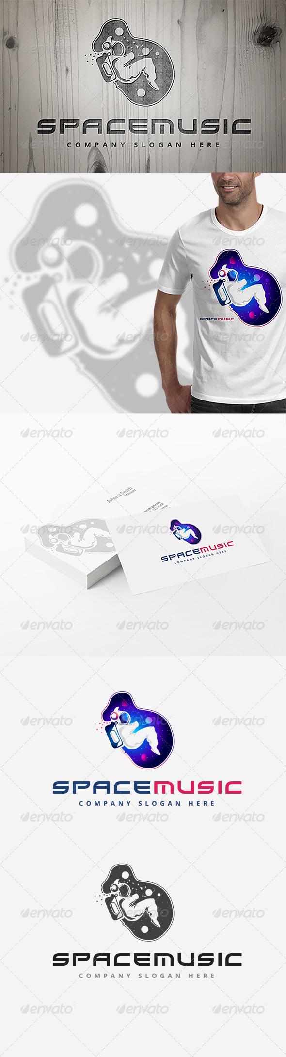 GraphicRiver Space Music Logo 7779160