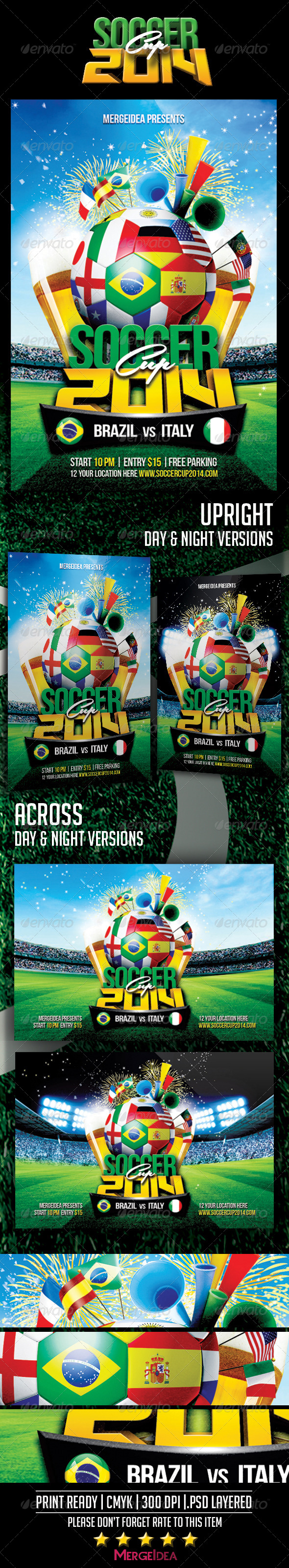 GraphicRiver Soccer Cup 2014 Flyer 7779443