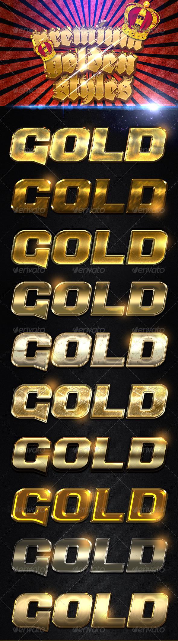 GraphicRiver Premium Golden Styles 7779526