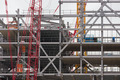 Construction site of a new building of steel and concrete floors - PhotoDune Item for Sale