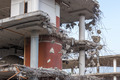 Demolition of a building with concrete floors and pillars - PhotoDune Item for Sale