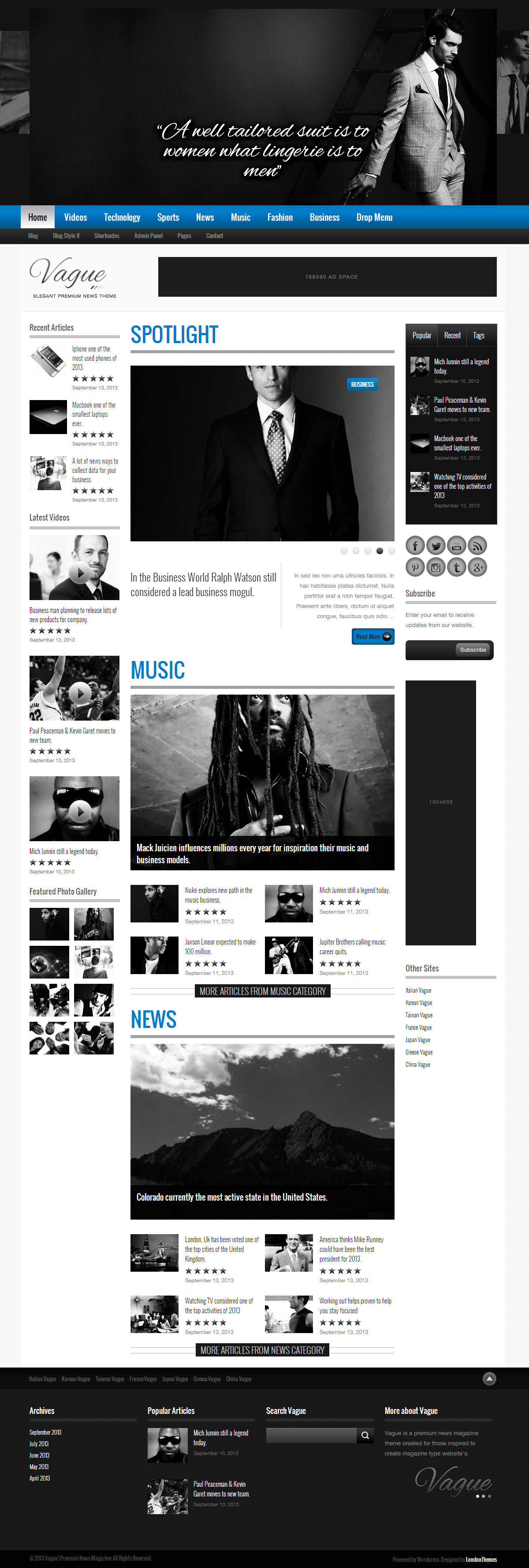 Vague - Premium Responsive News Magazine Theme