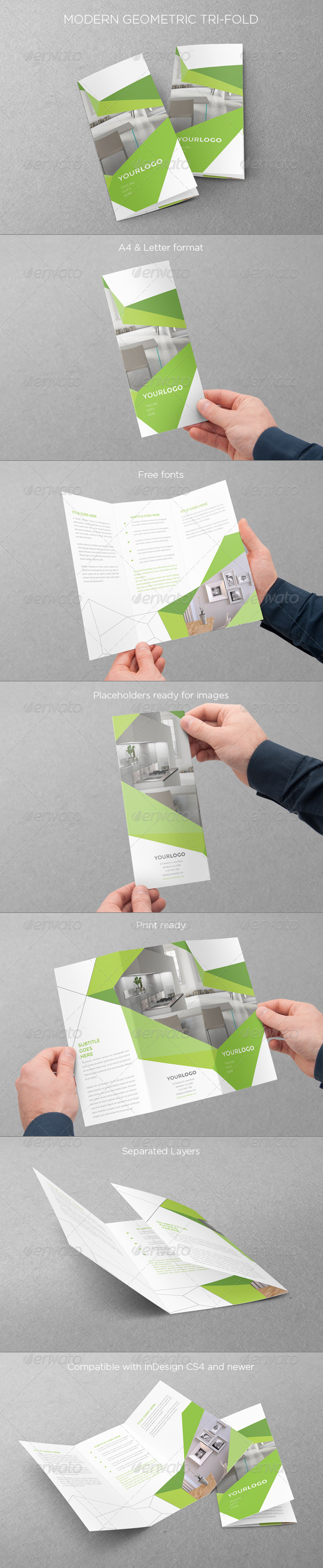 GraphicRiver Modern Geometric Trifold 7779900
