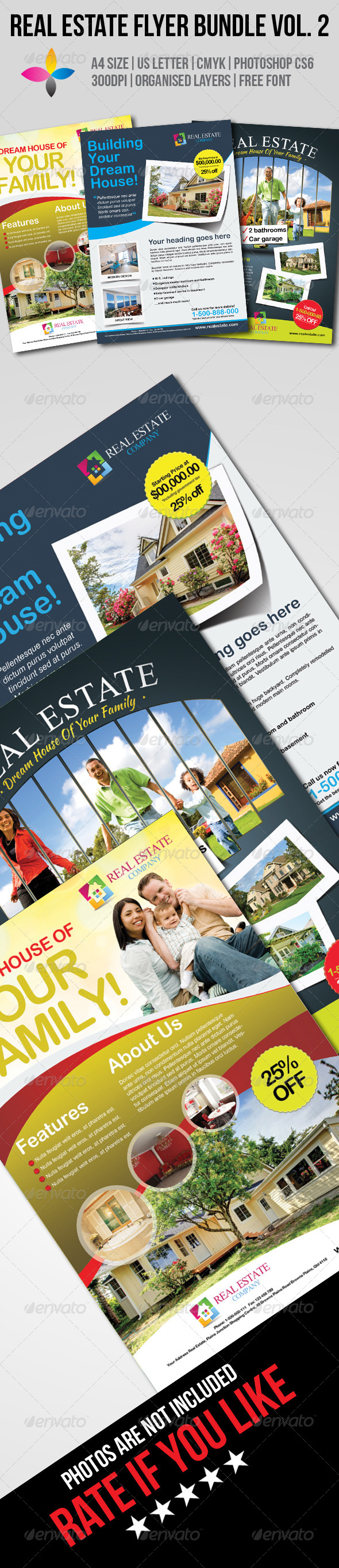 GraphicRiver Real Estate Flyer Bundle Vol.2 7780007
