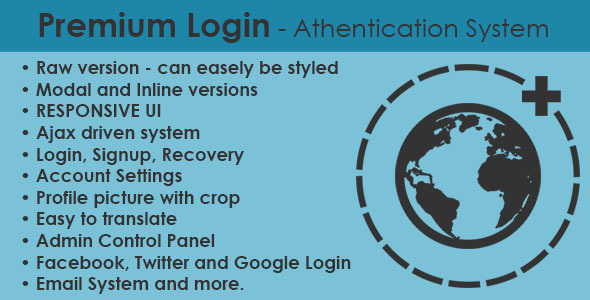 CodeCanyon Premium Login Authentication System 7758205