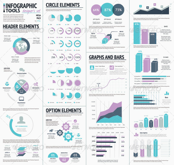 GraphicRiver Huge Infographic Vector Elements Designers Set 7781296