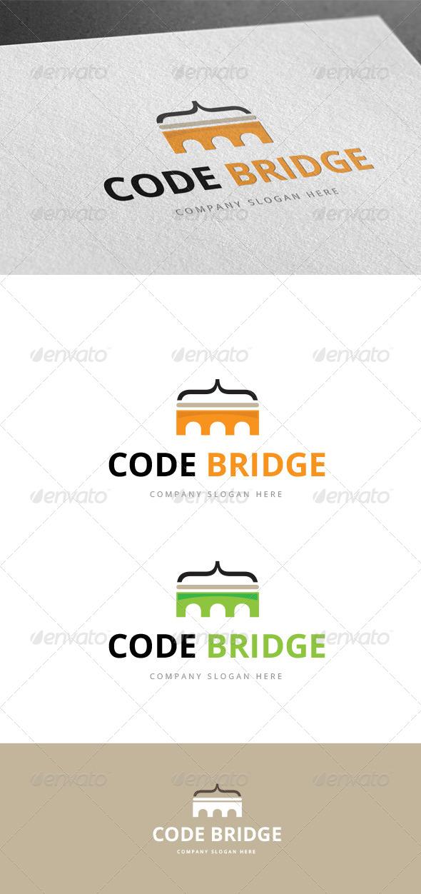 GraphicRiver Code Bridge Logo 7781335