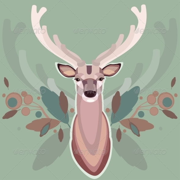 GraphicRiver Background with Deer 7781486