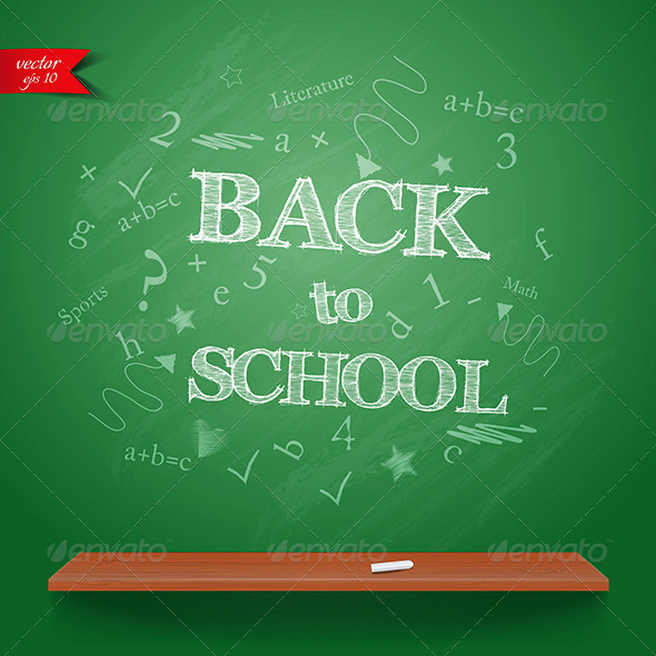 GraphicRiver This is the Back to School Background 7781703