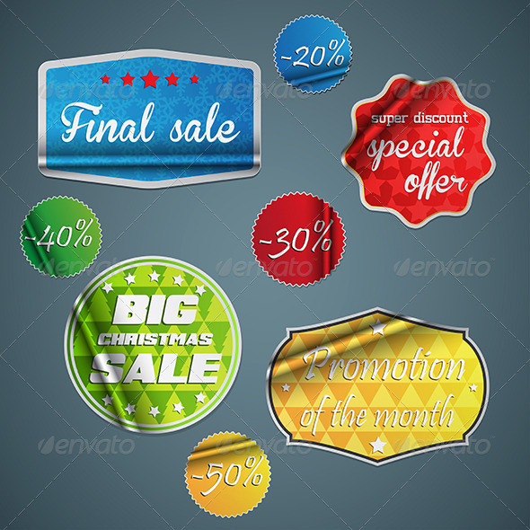 GraphicRiver This is the Stickers and Badges 7781720