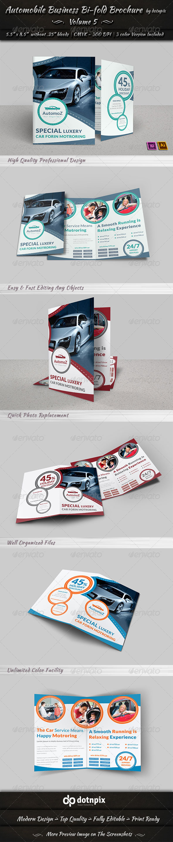 GraphicRiver Automobile Business Bi-Fold Brochure Volume 5 7781727