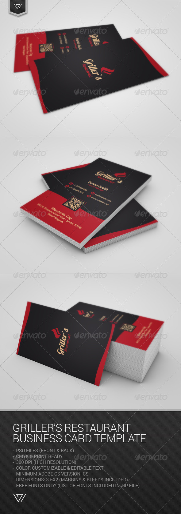 GraphicRiver Griller s Restaurant Business Card 7781731