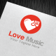 Love Music Logo Template - GraphicRiver Item for Sale