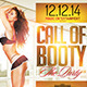 Call of Booty Sexy FLyer Template - GraphicRiver Item for Sale