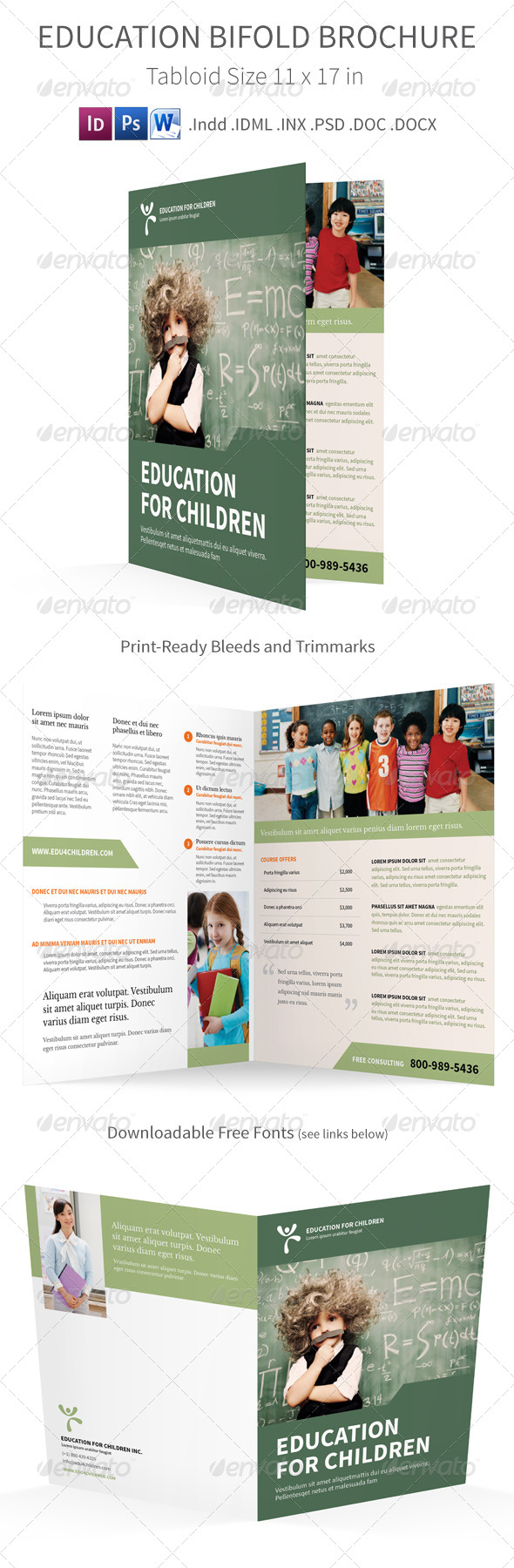 GraphicRiver Education Bi fold Half fold Brochure 7781887