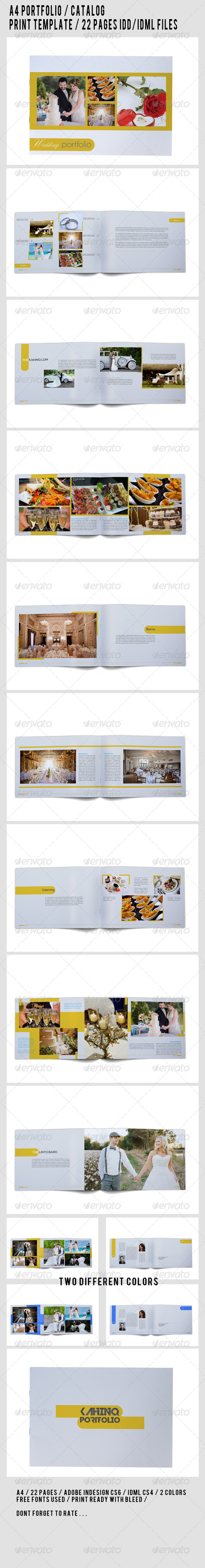 GraphicRiver A4 Portfolio Catalog Template 7781950