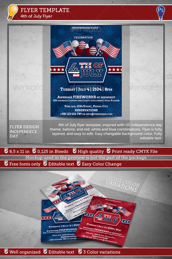 GraphicRiver 4th of July Flyer 7781982