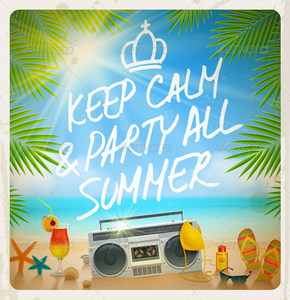 GraphicRiver Tropical Beach Summer Party 7782078