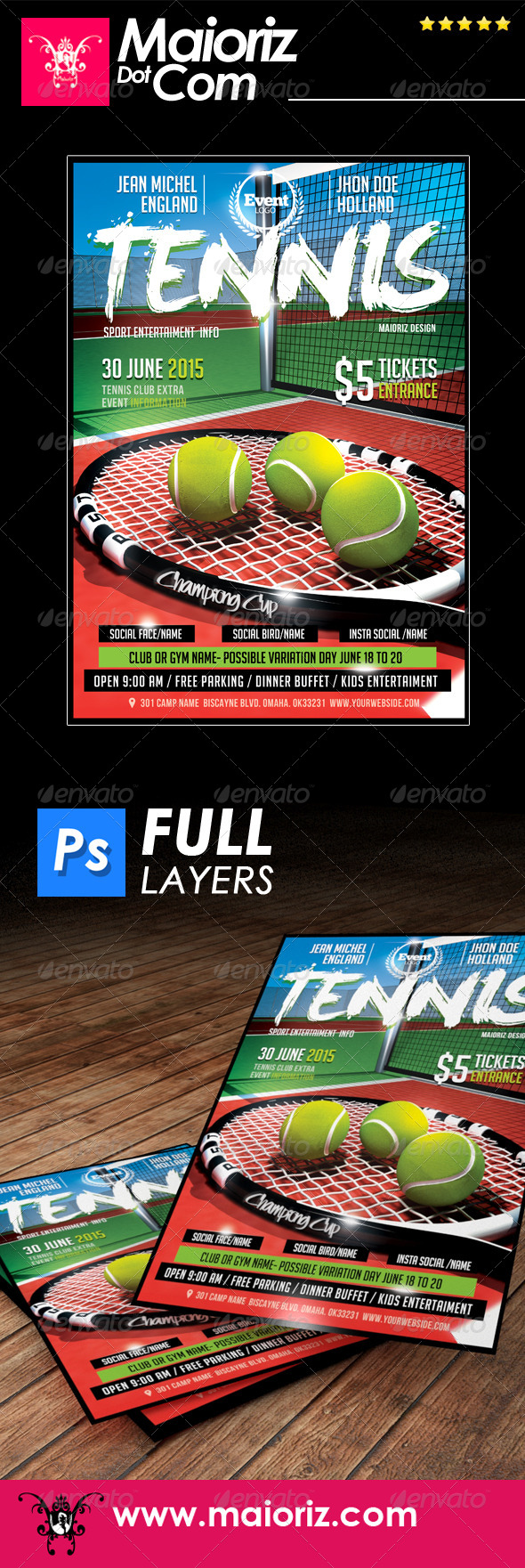 GraphicRiver Tennis Game Flyer 7782085