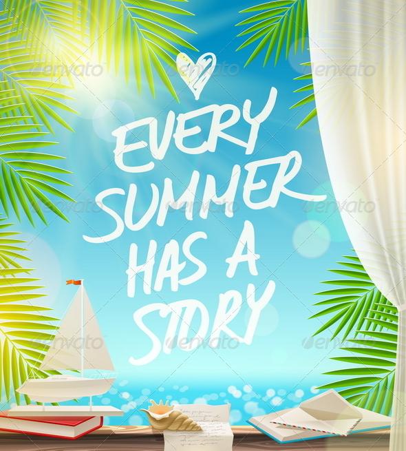 GraphicRiver Summer Vacation Vector Design 7782089