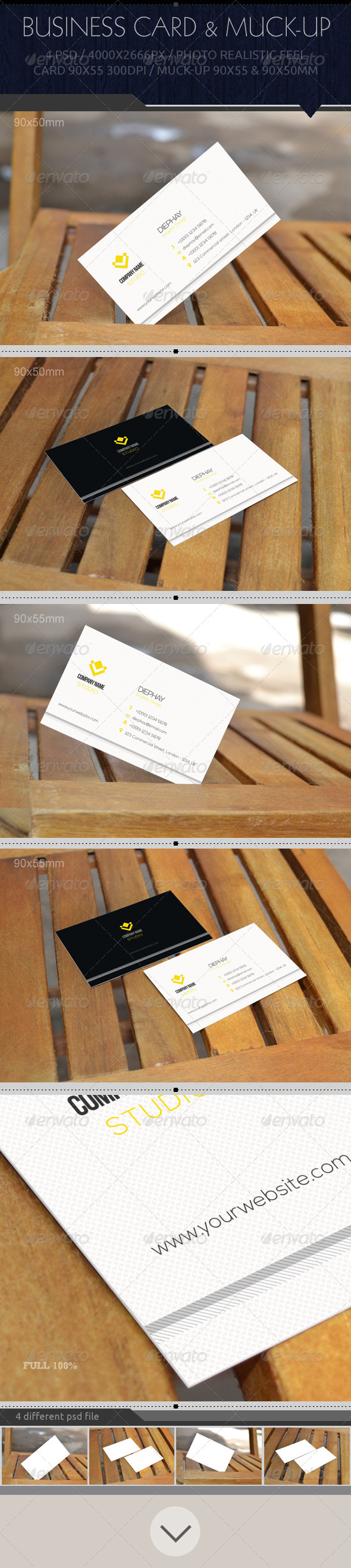 GraphicRiver Bsiness Card Mock-Up 7782228