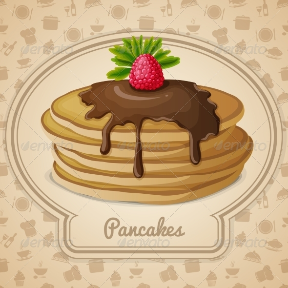 GraphicRiver Baked Pancakes Emblem 7782614