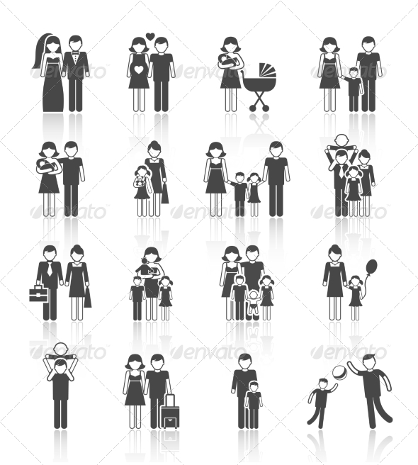 GraphicRiver Family Icons Set 7782635