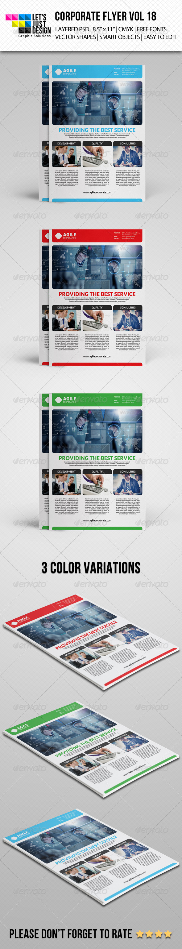 GraphicRiver Corporate Flyer Template Vol 18 7783150