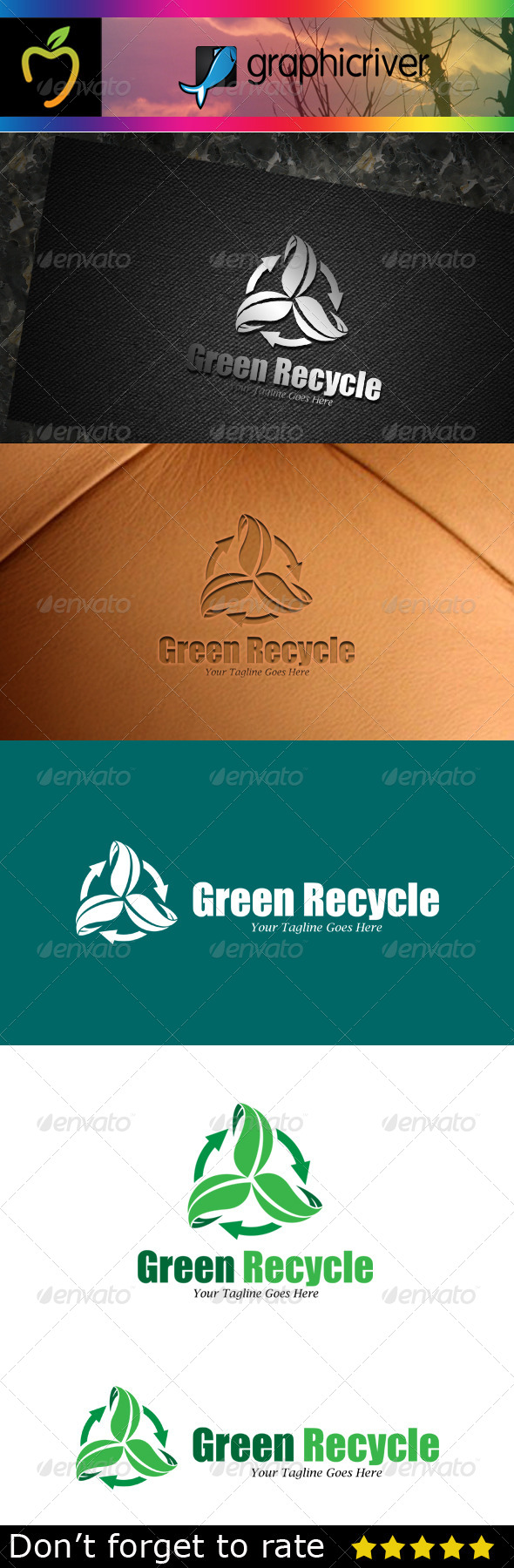 GraphicRiver Green Recycle Logo 7783395