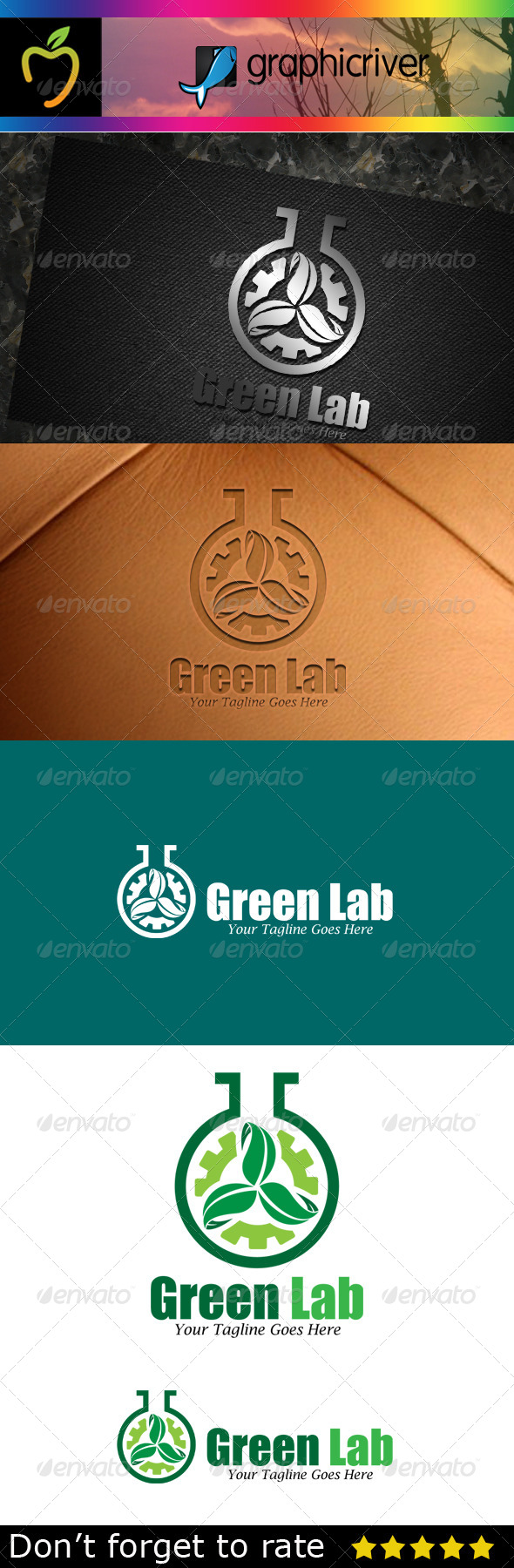 GraphicRiver Green Lab Logo 7783447