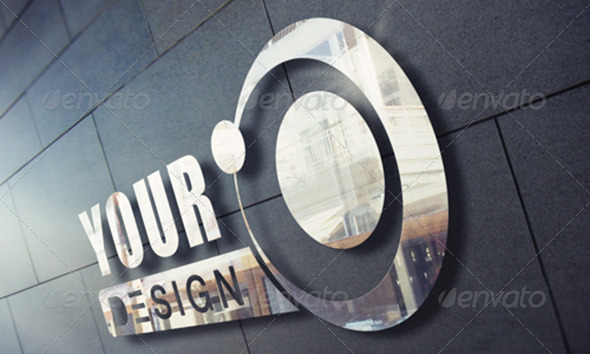 GraphicRiver Photorealistic Metal Signage Mock-up 7783448