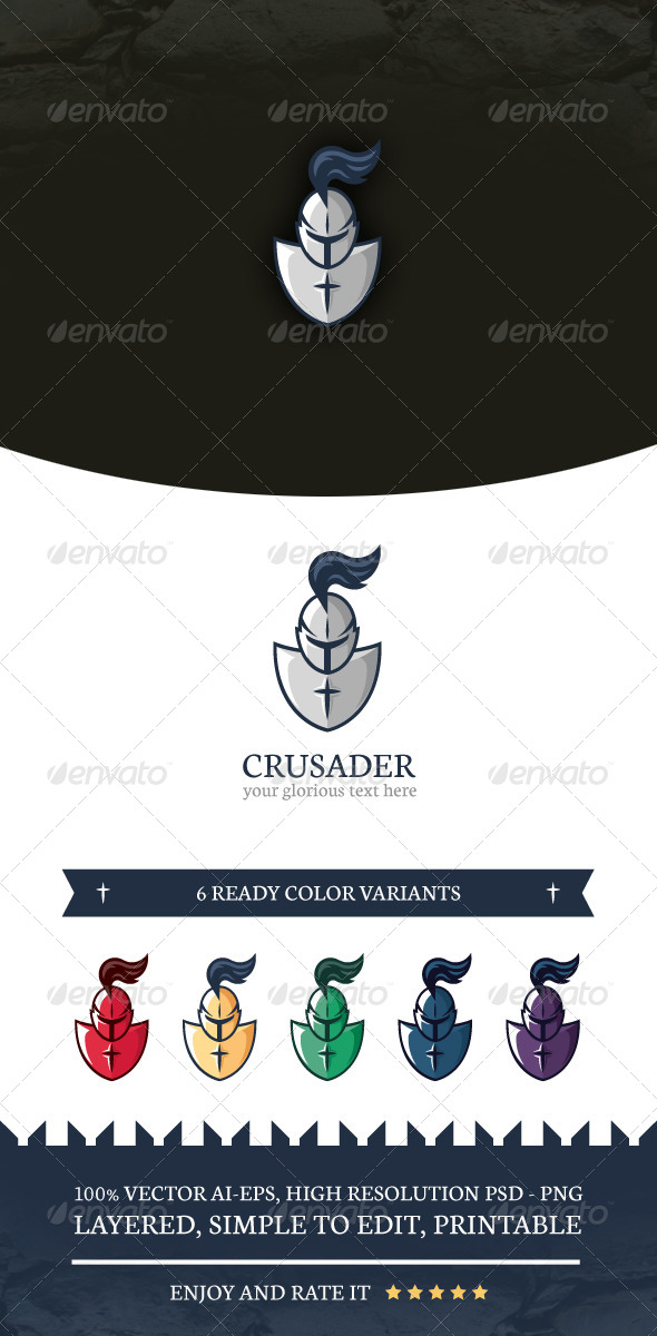 GraphicRiver Crusader Logo Template 7755662