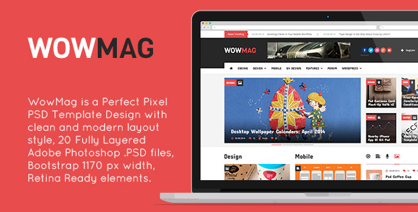 WowMag PSD Template