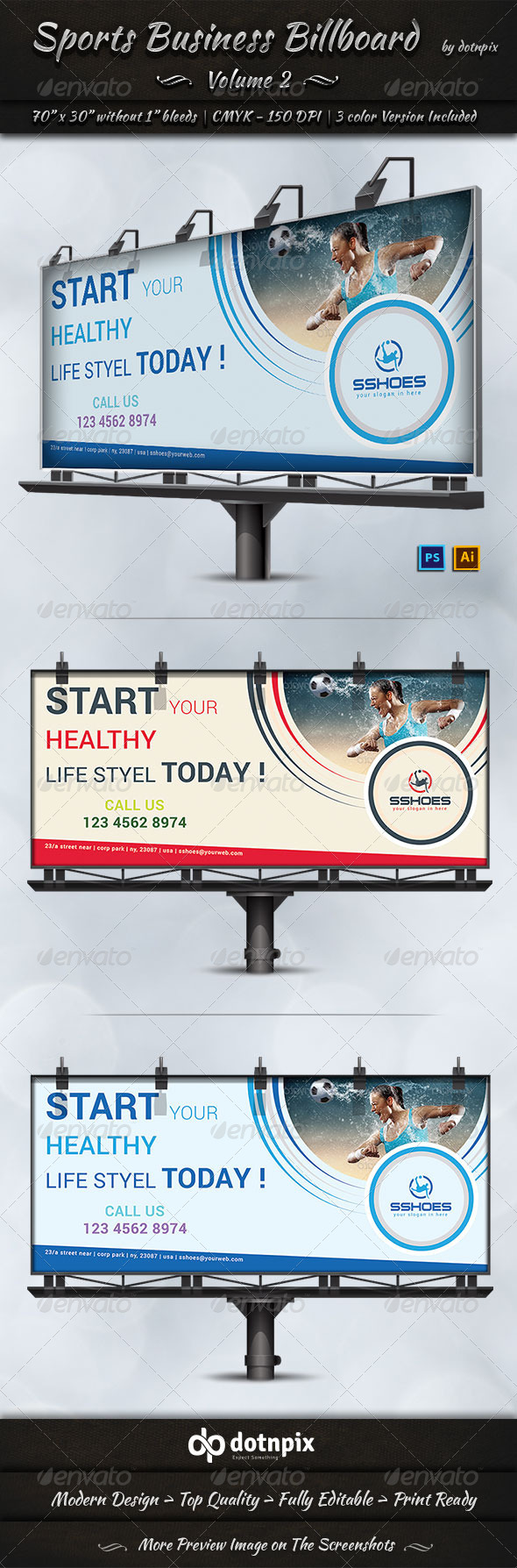 GraphicRiver Sports Business Billboard Volume 2 7783667