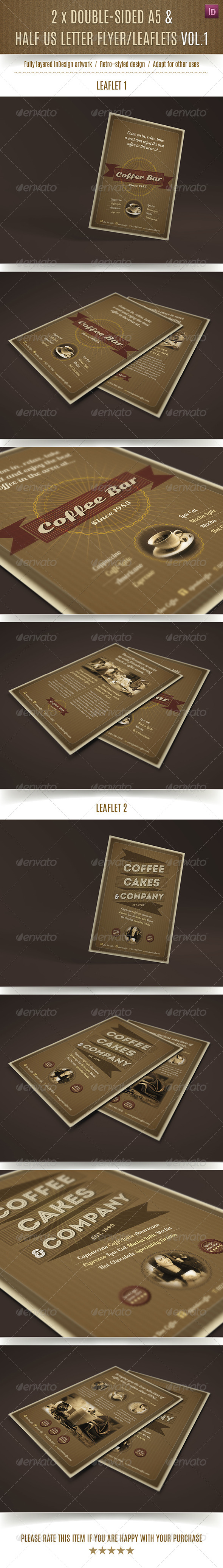 GraphicRiver 2 Double-Sided A5 Half Letter Coffee Bar Flyers 7784341