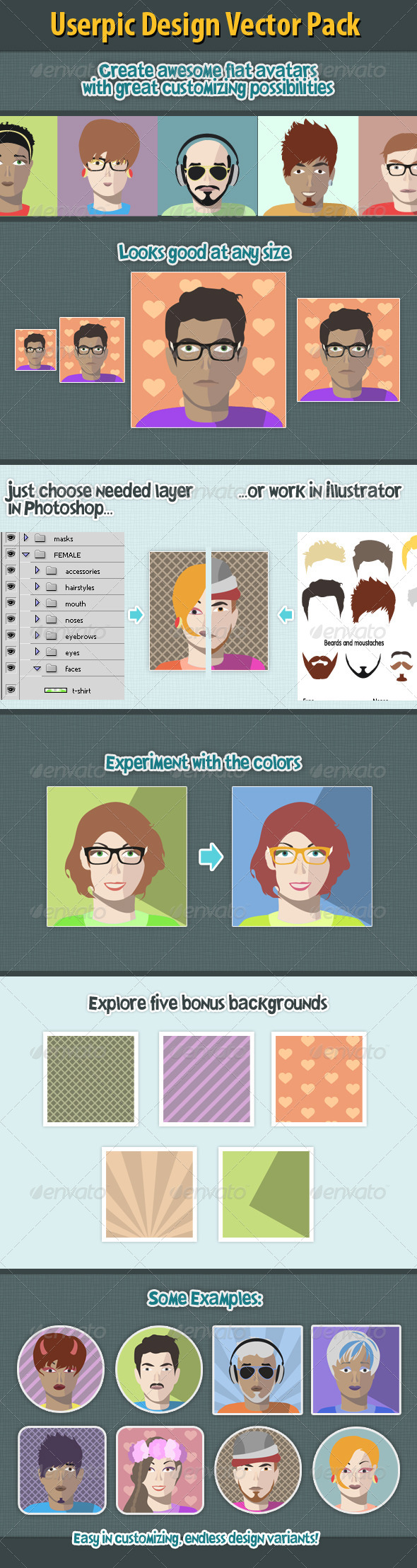 GraphicRiver Flat Avatar Creation Kit 7784756