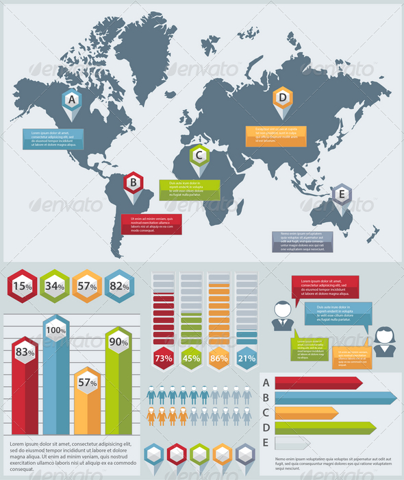 GraphicRiver Infographic Elements Set 7785157