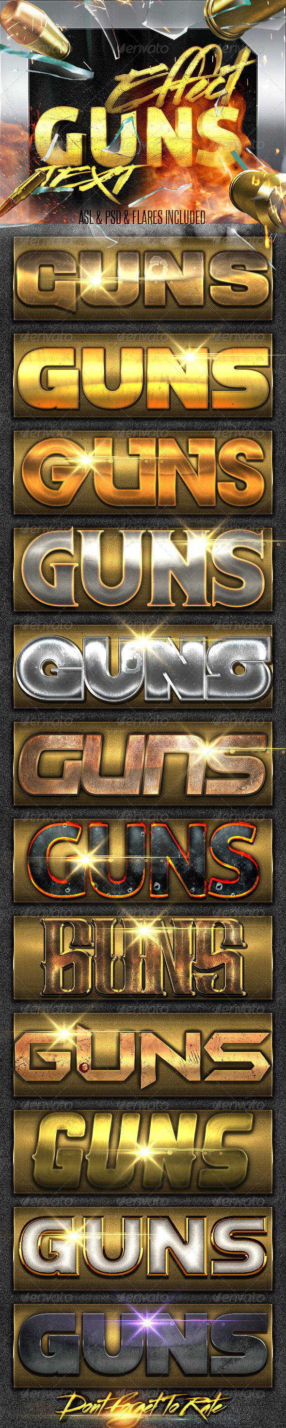 GraphicRiver Guns Layer Styles FX 7785172