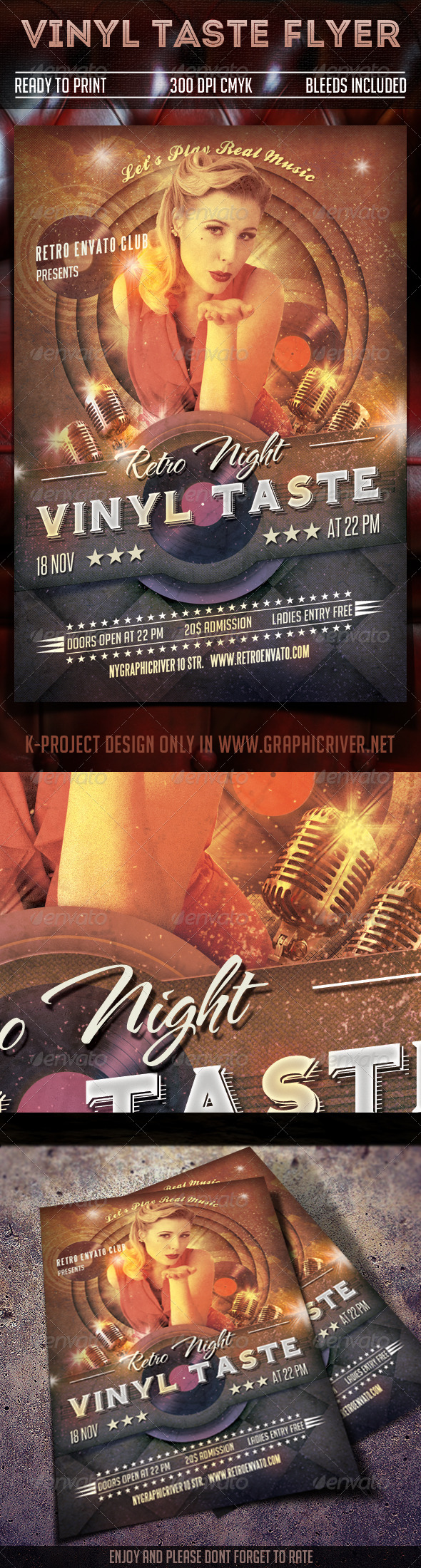 GraphicRiver Vinyl Taste Flyer 7785175