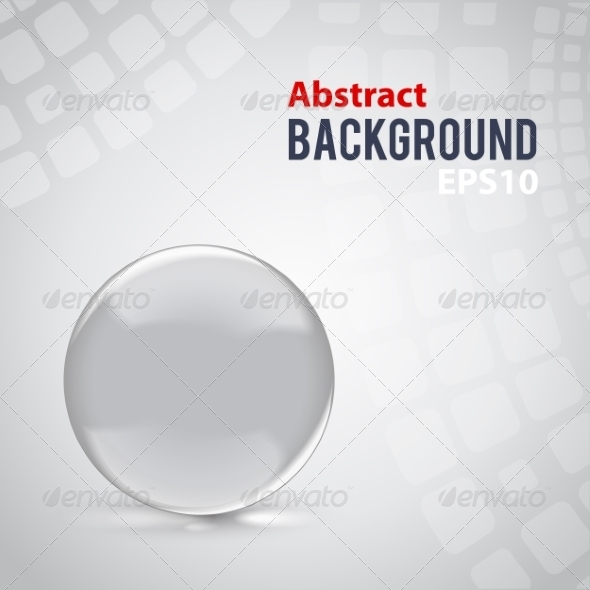 GraphicRiver Abstract Background with Clear Glass Sphere 7785310