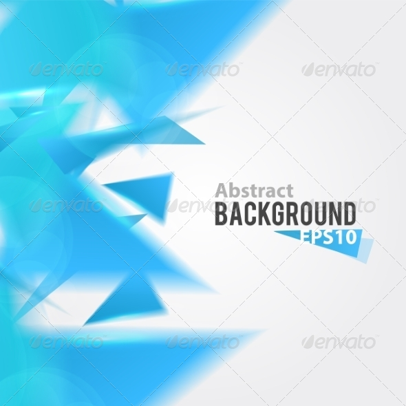 GraphicRiver Abstract Blue Triangle Background 7785331