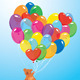 Balloons in Heart Shape - GraphicRiver Item for Sale