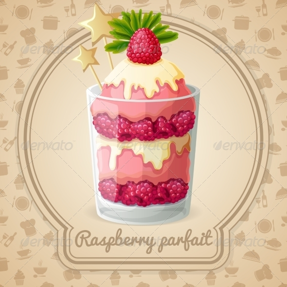 GraphicRiver Raspberry Parfait Emblem 7785397