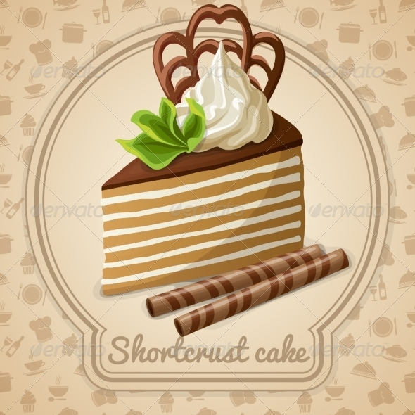 GraphicRiver Shortcrust Cake Label 7785398